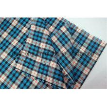 100% Hilado de algodón teñido ver diseño camisa tela