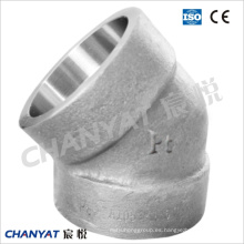 Aleación de níquel atornillado apropiado codo de 45 grados B515 Uns N08811, Incoloy 800ht