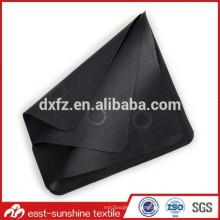 Personalizada de fábrica en relieve gafas de microfibra Negro trapo de limpieza