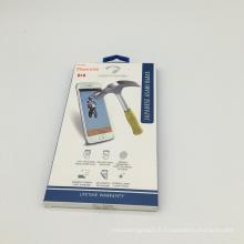 Boîte d'affichage de fenêtre imprimée adaptée aux besoins du client de paquet de papier