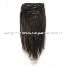 Clip-in Hair Extensions, Weight and Clips Can be Customized