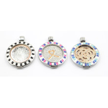 2016 New Design Locket with Floating Coin Plate