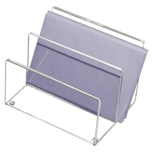 Mini Two Compartments Acrylic Magazine Display Stands