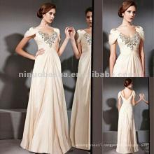 NY-2556 Sexy Cheap Womens Long Gold Party Dress