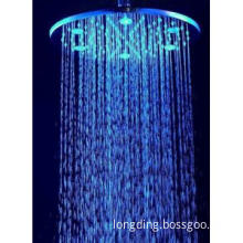 "10"" LED brass shower head"