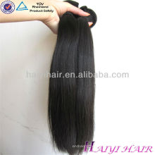 Extensión brasileña del pelo de la onda recta del cuerpo onda rizada pelo negro Weave Brands