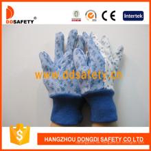 Flower Cotton Garden Handschuhe mit Mini Dots auf Palm Dgs306