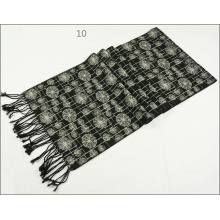 Men′s Womens Unisex Reversible Cashmere Feel Winter Warm Checked Diamond Printing Thick Knitted Woven Scarf (SP816)