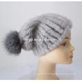 sombrero de visón de punto de calidad superior hembra