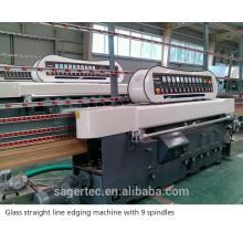 9 motors glass straight line beveling machine SZ-ZB9