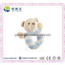 Certificação aprovado bonito brinquedo de pelúcia brinquedo do bebê Handbell