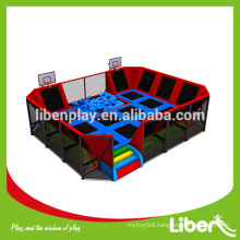 gymnastic rectangular cheap outdoor Safety huge indoor trampolines park with ball pool