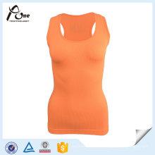 Camiseta atractiva fantástica de la yoga de la señora Top Cheap Plain Active Wear