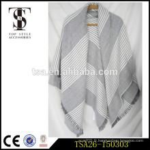 Alibaba vente chaude série de la couleur de la lumière écharpes en vrac en vrac poncho en sertis en chevrons
