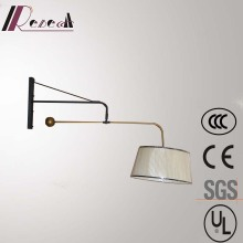 Rotatable Black Large Reading Wall Lamp for Hotel Project