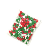 Christmas Decoration three Color Polyester Pompom Christmas PomPoms