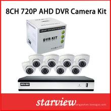 8CH H. 264 720p Ahd DVR con 8 cámaras de CCTV