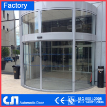 Tempered Glass Automatic Door Curved Sliding