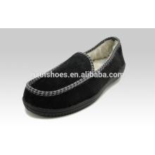 Хорошее качество мужской moccasin тапочки большой установки мужчин обуви вельвет верхний закрытый тапочки