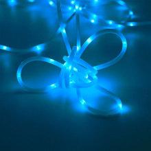 Светодиодный шнур с синим светом