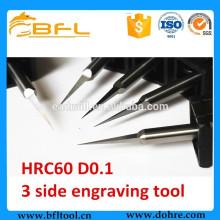 Microfiltre cémenté 3 de routeur de gravure de diamètre de carbure BFL pour la cire