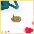 Custom round shape gold plating metal badge