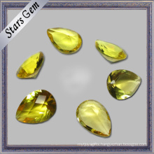 Bright Yellow Pear Cut Low Price Cubic Zirconia CZ Stone