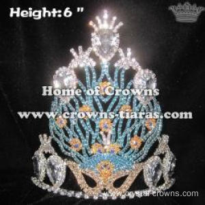 Wholesale Unique Crystal Peacock Pageant Crowns