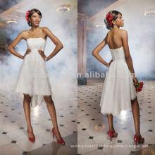 NY-1816 Strapless empire point d'esprit a-line vestido de noiva
