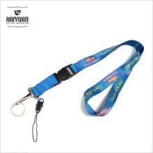 Lanyard fabricante promocional barato color personalizado cuello poliéster impreso cordón