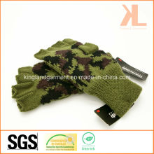 Armee Acryl Half Finger Olive Camouflage Strickhandschuhe Thinsulate