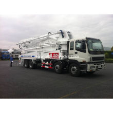 8x4 Ssab Steel Isuzu 47m Truck Mounted Concrete Pump / Delivery Equipment 390hp