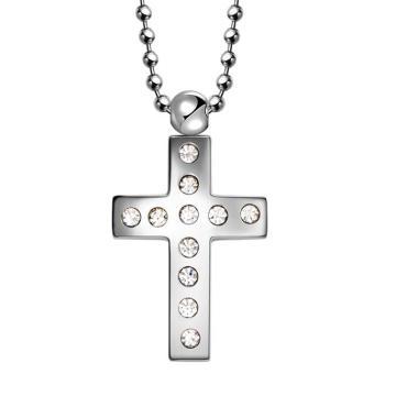 Colgante de joyería de cruz de acero inoxidable Hdx con diamante