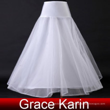 Grace Karin A-Line High Quality White Long Petticoat for wedding dress CL2708