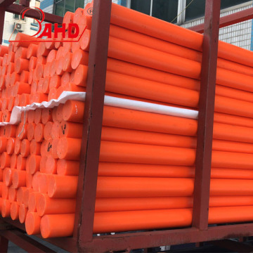 Orange bunte HDPE Rod Rods Bar Bars