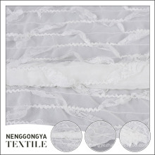 Hot selling popular polyester decorative white crepe chiffon fabric
