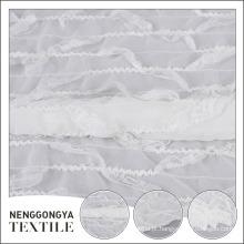 Venda quente popular poliéster branco decorativo tecido crepe chiffon