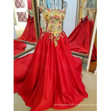 LS29452 Lace red satin glow in the dark latest formal patterns free shipping prom dress