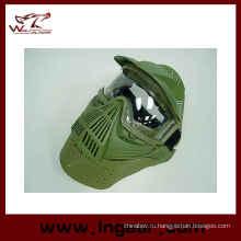 Анфас страйкбол изумленный взгляд объектива маска шеи защиты маски
