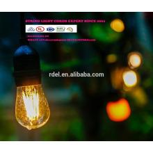 LST-180 String Lights mit klaren Birnen, UL gelistete Hinterhof-Patio-Lichter, hängenden Innen- / im Freienketten-Licht