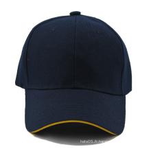 Casquette de baseball Sandwich uni avec logo personnalisé sur le devant et le dos (GKA01-F00059)
