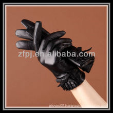 fashion women wearing glove manufacture cashmere lined Leather Gloves