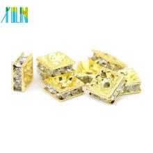 Top Qualität IA0302 Vergoldung Metall Messing Schmuck Kreuz Strass Spacer Perlen