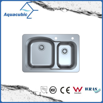 Above Counter Stainless Steel Moduled Kitchen Sink (ACS 3322DM)