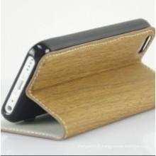 Nouvelle élégant PU cuir GSM couverture pour iPhone5C affaire