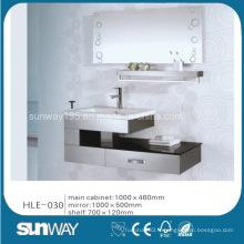 Meubles de salle de bain en acier inoxydable à miroir miroir avec prix compétitif