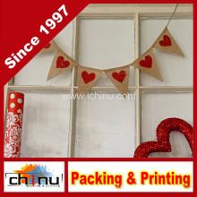 Mini decoración de la bandera de la arpillera del día de San Valentín (420037)