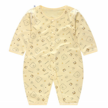 Cotton Long Sleeve Infant Printed Baby Romper