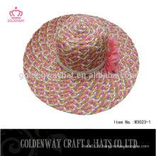 2015 Chapeau de soleil nouvellement féminin avec fleur