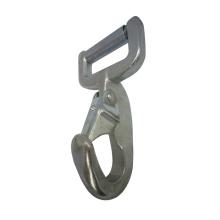 3034 sangle en acier galvanisé unique en sang Snap Rectangular Eye Hook